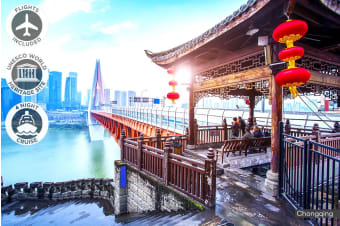CHINA: 7/14 Day China Tour and Yangtze River Cruise Including Flights for Two