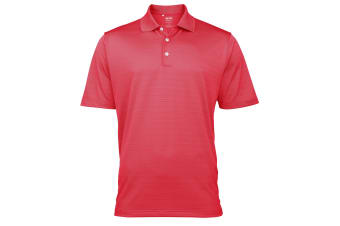 Adidas Golf Climalite Mens Textured Solid Polo Shirt (Cameroon) (XS)