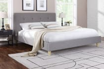 Ovela Fabric Bed Frame - Sonata Collection (Light Grey)