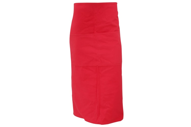 Bargear® Unisex Long Bar Apron / Aprons And Tabards (Red) (One Size)