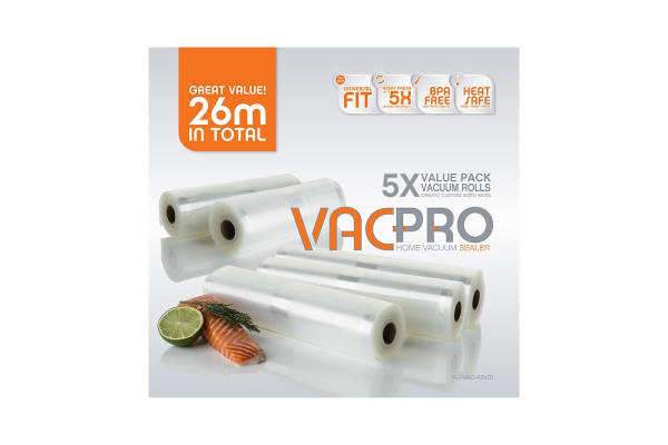 Pro Appliances VacPro Vacuum Rolls 26m Value 5 Pack