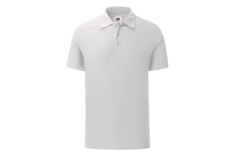 Fruit Of The Loom Mens Tailored Poly/Cotton Piqu Polo Shirt (White) (L)