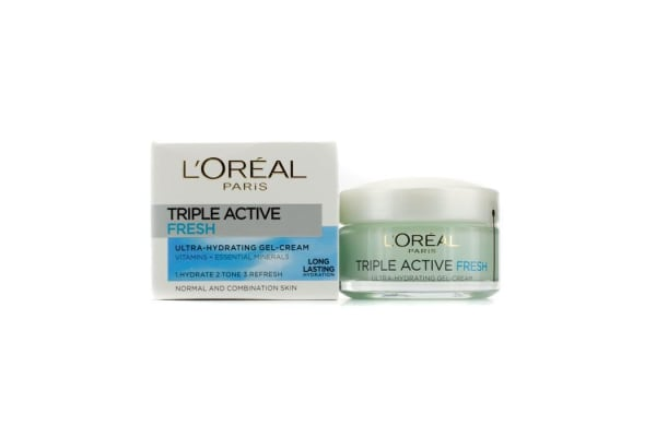 L'Oreal Triple Active Fresh Ultra-Hydrating Gel-Cream (For Normal & Combination Skin) (50ml/1.7oz)
