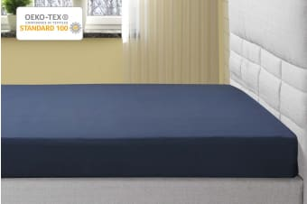 Ovela 1000TC 100% Egyptian Cotton Fitted Sheet (Indigo)
