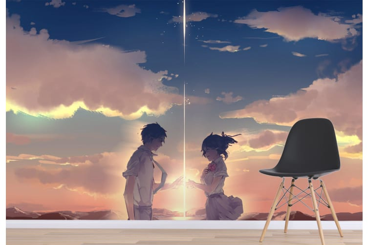 3D Your Name 077 Anime Wall Murals Woven paper (need glue), XL 208cm x 146cm (WxH)(82''x58'')