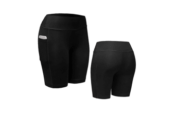 Women Performance Compression Shorts with Pocket M
