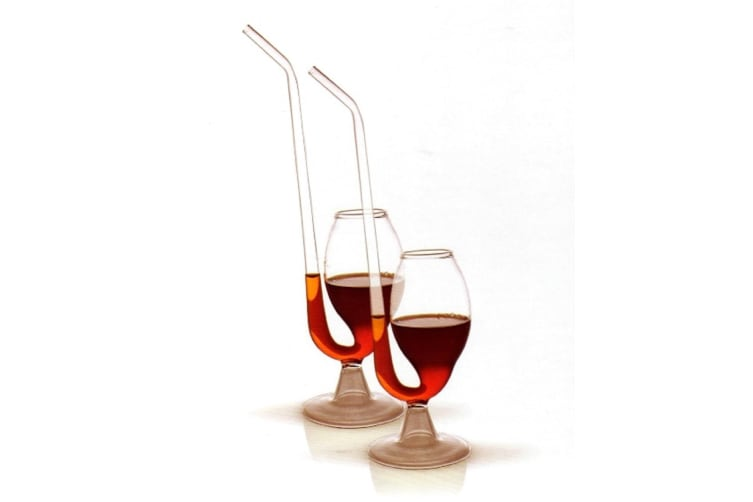 Port Pipes Sippers Set 2 Glass