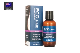 ECO. Certified Organic Coconut & Argan Hair Oil (95mL)