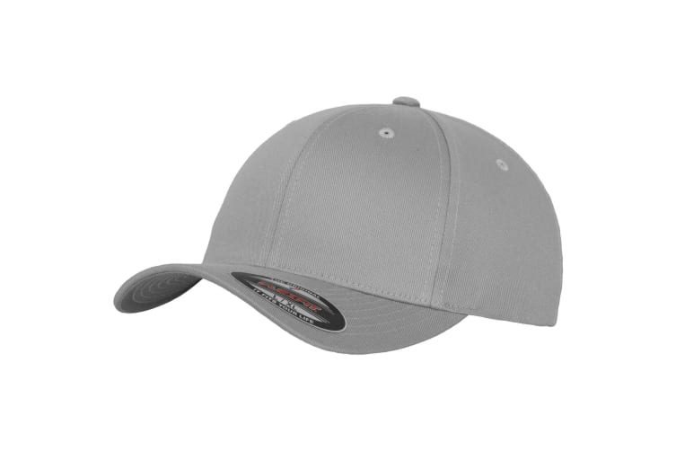 Yupoong Mens Flexfit Fitted Baseball Cap (Pack of 2) (Silver) (LXL)