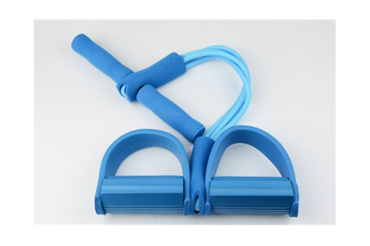 Pedal Resistance Band With Handle Elastic Pull Rope Foot Pedal Expander For Slimming Training Blue
