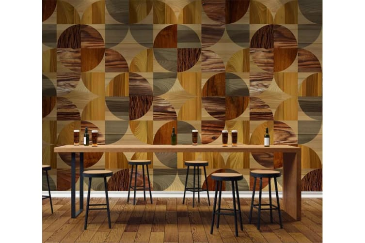3D Color Geometry 1457 Wall Murals Woven paper (need glue), XL 208cm x 146cm (WxH)(82''x58'')