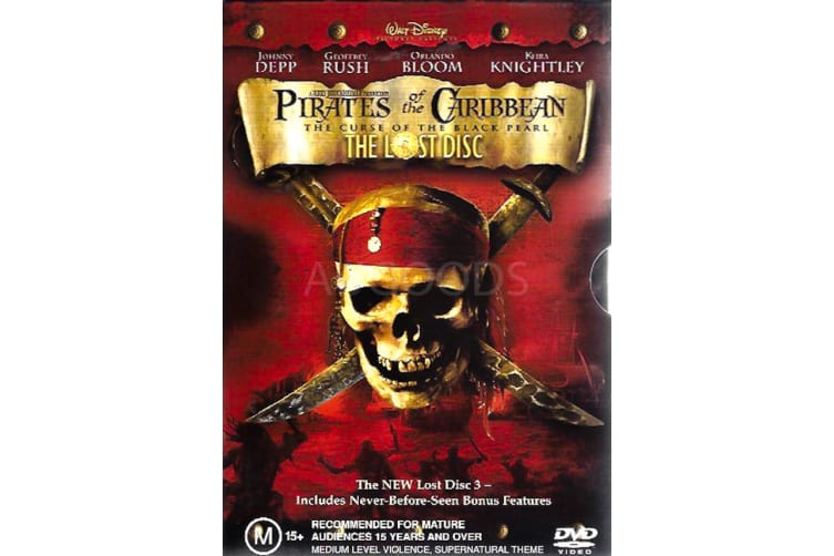 PIRATES OF THE CARIBBEAN: THE CURSE OF THE BLACK FRIDAY BOX SET - Preowned DVD: DISC LIKE NEW