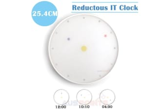 Kikkerland Reductous Floating Dots Wall Clock  Designed by Milton Glaser