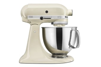 Terrific Kitchenaid Ksm150 Artisan Stand Mixer Almond Cream 5Ksm150Psaac Beutiful Home Inspiration Cosmmahrainfo