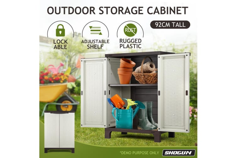 Shogun Outdoor Storage Cabinet Vertical Tool Shed 92CM
