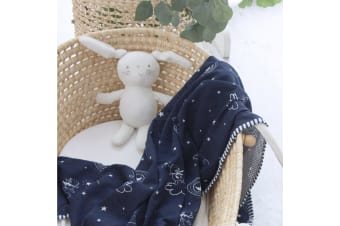 Bubba Blue Air+ Swaddle Wrap Wish Upon A Star Navy