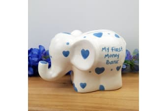 My First Money Bank Elephant Blue
