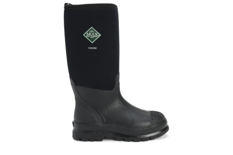 Muck Boots Unisex Chore Classic Hi Patterned Wellingtons (Black) (5 UK)
