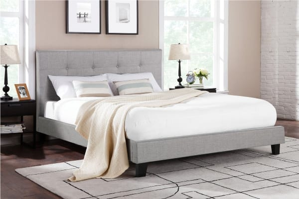 Ovela Bed Frame - Positano Collection (Grey, King)