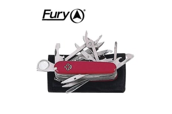 Fury Fleur-de-lis 18 Implements W/sheath Red 89mm