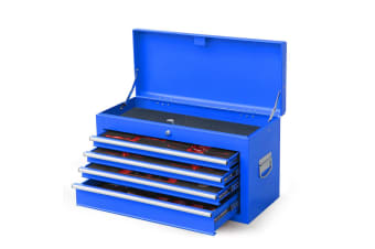BULLET 478 Piece Tool Box Chest Kit Storage Cabinet Set Drawers With Tools Blue