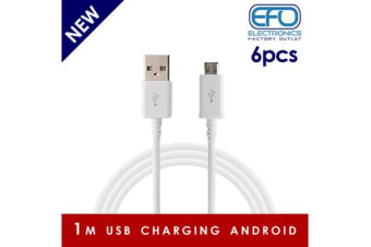 6Pc 1M Usb Charging Cable Micro Usb Connector For Samsung Htc Sony Windows  6X