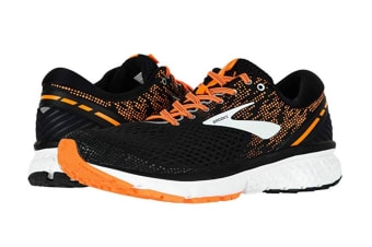Brooks Men's Ghost 11 (Black/Silver/Orange, Size 10.5)