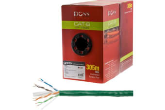 Doss 305M Cat6 Solid Cable Green