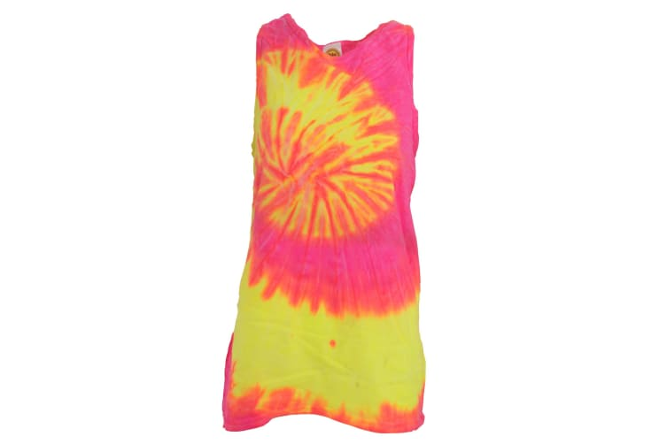 Colortone Womens/Ladies Sleeveless Tie-Dye Tank Top (Fluorescent Swirl) (M)