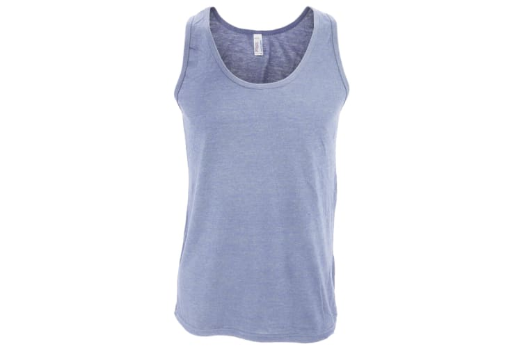 American Apparel Mens Plain Sleeveless Tri-blend Tank/Vest Top (Athletic Blue) (XL)