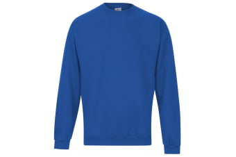 RTXtra Mens Classic Plain Crew Neck Sweatshirt Top (Royal)