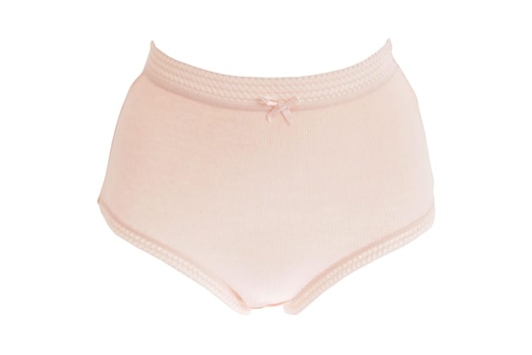Passionelle Womens/Ladies Ribbed Pastel Cotton Briefs (Pack Of 3) (Pastel) (OS)