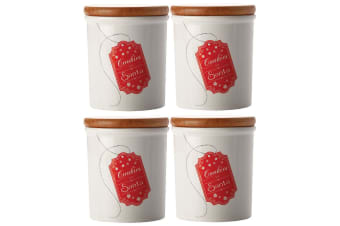4PK Maxwell & Williams 500ml Santa Canister Storage Container Coffee Tea Sugar