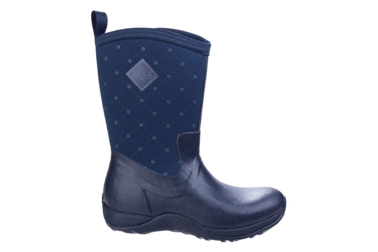 Muck Boots Unisex Arctic Weekend Pull On Wellington Boots (Navy Quilt) (8 UK)