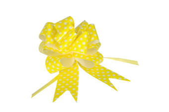 Eleganza Polka Dot Pullbows (Pack Of 20) (Yellow) (One Size)