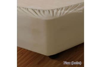 Apartmento Stretch Valance Flax (Latte) KING