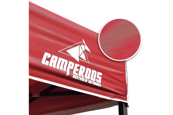 3x3m Gazebo Frame + Roof + Side Cover - RED