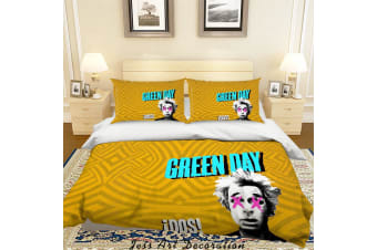 3D Rock Band Green Day Quilt Cover Set Bedding Set Pillowcases 51