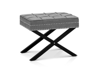 Seat Footstool Bench Stool (Grey)