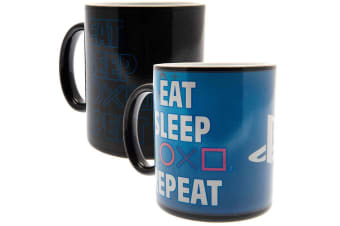Playstation Heat Changing Mug Repeat (Multi-colour) (One Size)