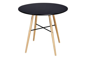 vidaXL Dining Table MDF Round Black