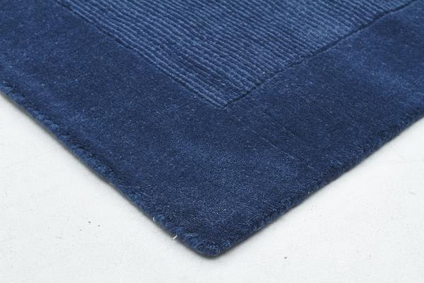 Cut And Loop Pile Runner Rug Blue 400x80cm