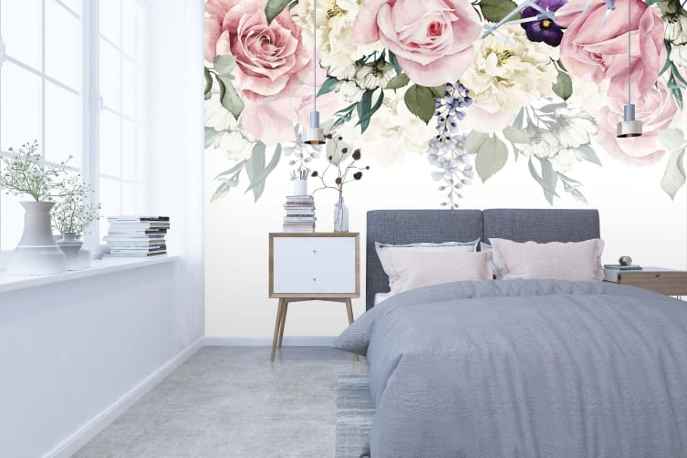 3D Small Fresh Flower 158 Wall Murals Woven paper (need glue), XXXXL 520cm x 290cm (WxH)(205''x114'')
