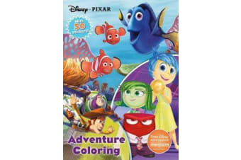 Disney Pixar Adventure Coloring - With 50 Stickers!