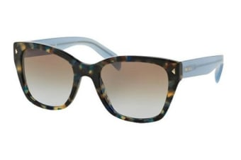 Prada PR09SS UE14S2 Spotted Brown Blue Womens Sunglasses