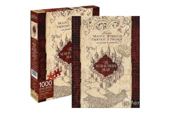 Harry Potter Maruaders Map 1000pc Puzzle