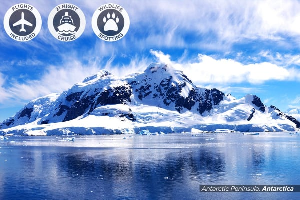 ANTARCTICA: 24 Day South America & Antarctica Cruise Including Flights for Two - (Balcony Cabin)