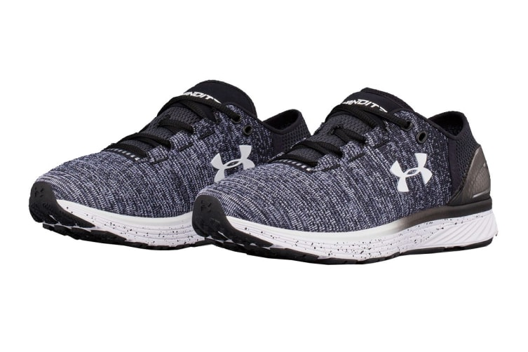 Under Armour Women's Charged Bandit 3 Running Shoe (Black/White, Size 6)