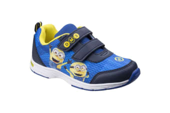 Leomil Childrens/Kids Minions Touch Fastening Trainer (Blue/Yellow) (7 Child UK)