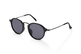 Winstonne Women's Seymour Round Sunglasses - Black